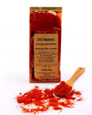 Chili Habanero orange gemahlen