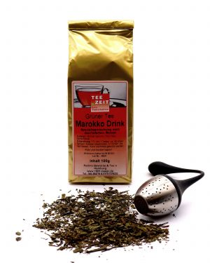 Grüner Tee Marokko Drink