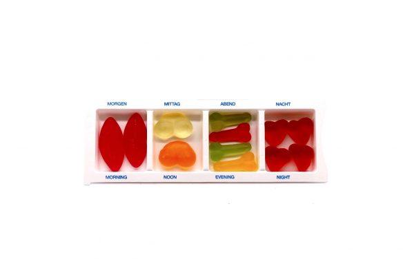 Spaßgeschenk Pillendose Süßigkeit