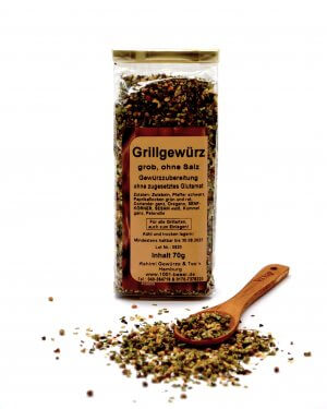 Grillgewürz grob ohne Salz, 70 g 1